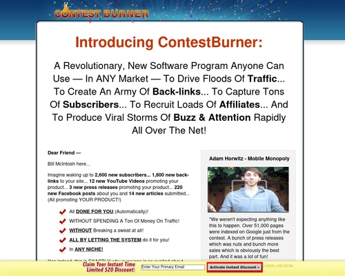 Viral Marketing - Contest Burner Online Contest Software